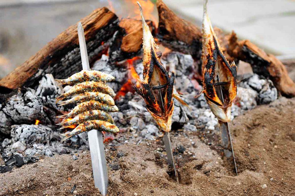 Gastronomia de Malaga Espetos