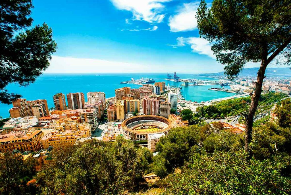 Vista ciudad de Málaga